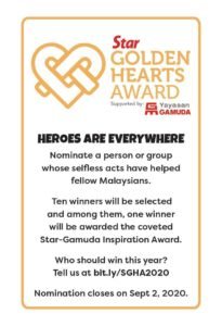 Star Golden Hearts Award 2020 opens for nominations